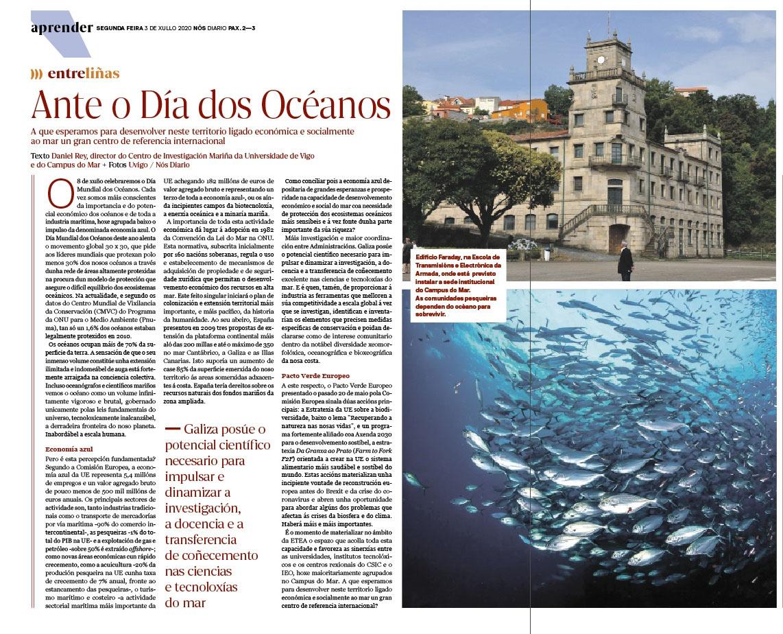 Dia dos oceanos diario Nos